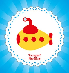 Maritime transport design vector