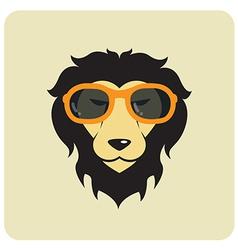 Lion glasses vector image