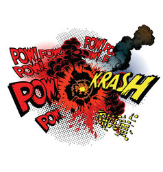 cartoon war explosions vector image