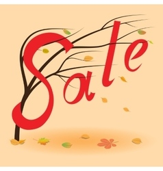 Autumn sale background fall sale event vector