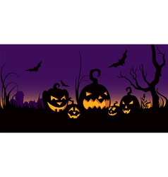 Halloween celebration in the garden vector
