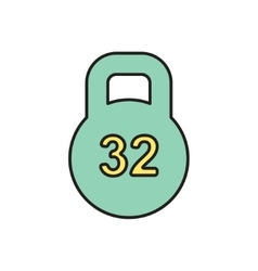 Weight icon eps10 vector