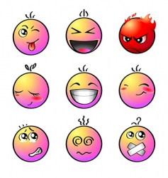 rainbow smileys vector image