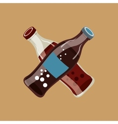 Hand with soda icon vector