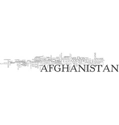 A breif look at afghanistan text word cloud vector