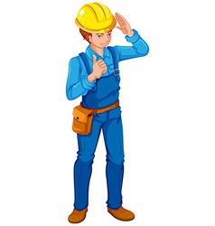 An engineer vector image vector image