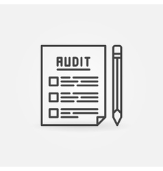 Audit documents outline icon vector image vector image