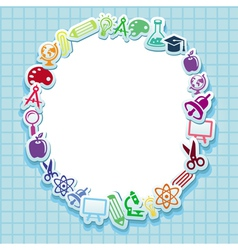 Back to school - card with icons vector image vector image