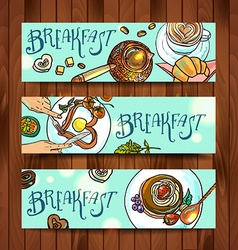 beautiful banners breakfast vector image
