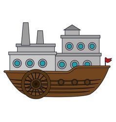 big ship icon vector image
