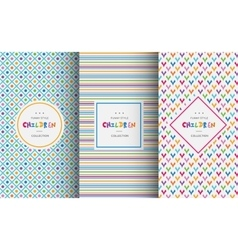 Bright colorful seamless patterns for baby style vector image vector image