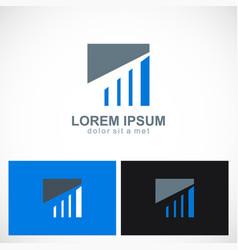 Business finance progress square logo vector