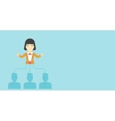 Business woman choosing employee vector image vector image