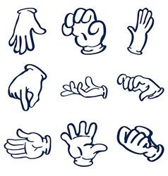 Cartoon gloved hands clip art vector image