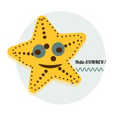 Cartoon sea star cartoon vector