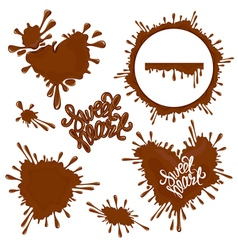 Chocolate heart 380 vector
