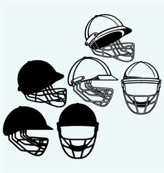 Cricket helmet vector image