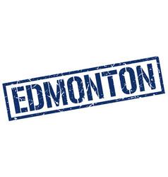 Edmonton blue square stamp vector