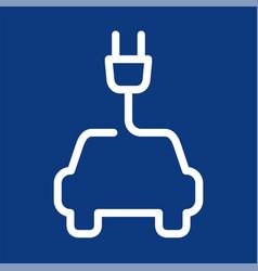 electric car symbol vector image vector image