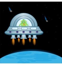 Extraterrestrial spaceship vector