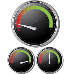 fuel gauges vector image vector image