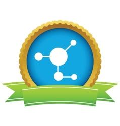 Gold atom logo vector