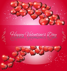 Greeting Card Valentines Day vector image vector image