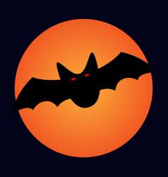 halloween bat and moon sign 109 vector image