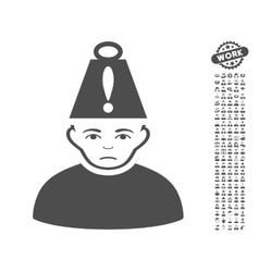 Head stress icon with bonus vector