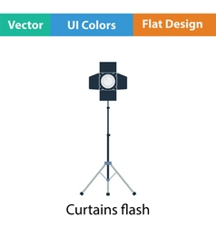 Icon of curtain light vector image vector image