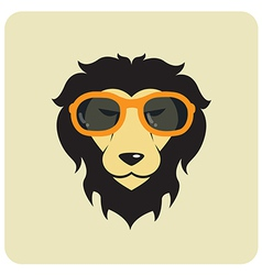 Lion glasses vector image vector image
