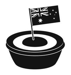 Little flag icon simple style vector