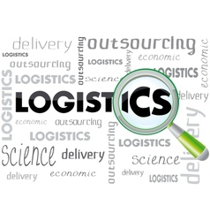 logistics b vector image
