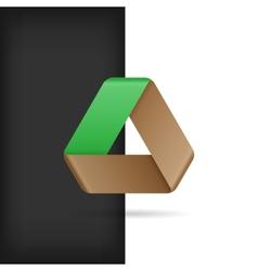 Logo Or Emblem Template Infinite Mobius Strip Eco vector image
