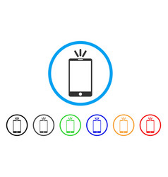 mobile torch rounded icon vector image