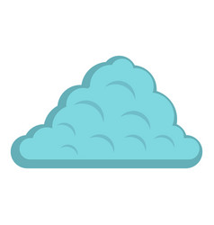 One cloud icon isolated vector