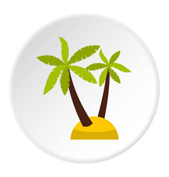 Palm tree icon circle vector
