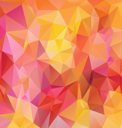 Pink yellow orange polygonal triangular pattern vector