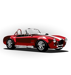 red classic sport car cobra roadster vector image