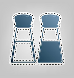 Salt and pepper sign blue icon with vector