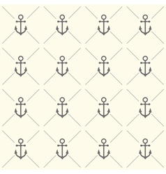 Seamless pattern with grey anchors vector image vector image