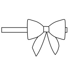 Silhouette satin right side ribbon and bow vector