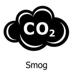 smog icon simple style vector image