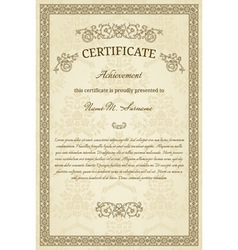 Vintage diploma vector image vector image