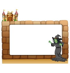 Witch Border Frame vector image