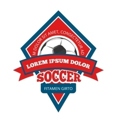 Soccer logo badge emblem template in red vector