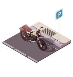 Motorcycle isometric concept vector