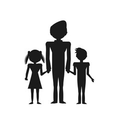 pictogram people family together vector image