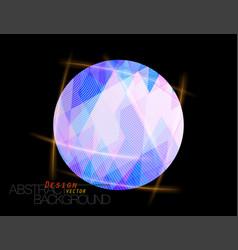 Abstract blue colors circular shape scene vector