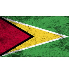Flag of guyana with old texture vector